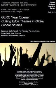 GLRC Year Opener: Cutting Edge Themes in Global Labour Studies @ 519 Kaneff Tower