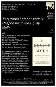 Two Years Later, at York U: Responses to the Equity Myth @ Ross South 802