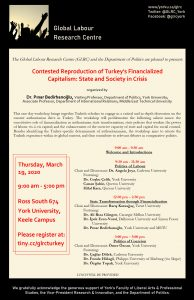 Contested Reproduction of Turkey's Financialized Capitalism: State and Society in Crisis @ Ross Building South 674